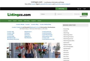 Listingzz.com  - Local Business information and listings